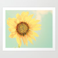 Sunflower Power Pop! Art Print