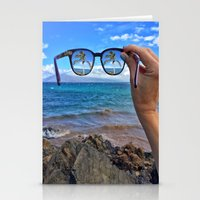 Hawaii Sunglasses Palmtrees Stationery Cards
