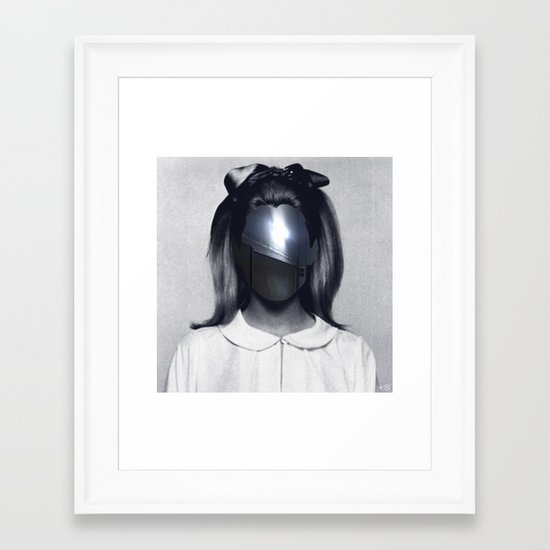 Fear collage Framed Art Print