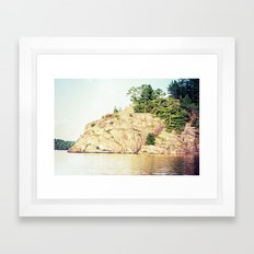north rock Framed Art Print