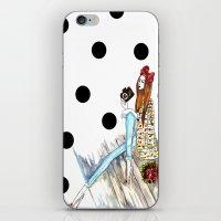 Dots & bow iPhone & iPod Skin