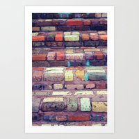 Abstract Bricks Art Print