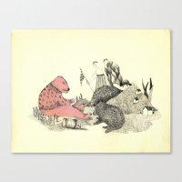 Pink Bear Canvas Print