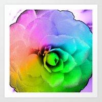 Rainbow Blossom Art Print