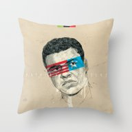 Throw Pillow featuring Superheroes SF by Blaine Fontana