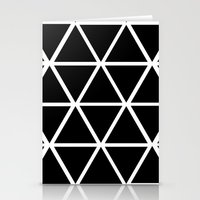 BLACK & WHITE TRIANGLES 2 Stationery Cards