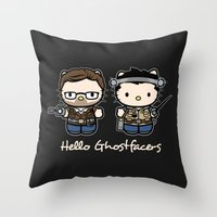 Hello Ghostfacers Throw Pillow