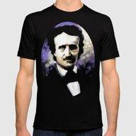 Edgar Allan Poe Mens Fitted Tee Black SMALL