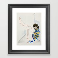 we might not have that long Framed Art Print