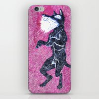 Black Dog Rampage iPhone & iPod Skin