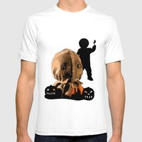 Sam: Monster Madness Series Mens Fitted Tee White SMALL