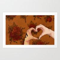 Language of Hands Art Print