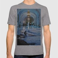 Undertow Hall Mens Fitted Tee Athletic Grey SMALL