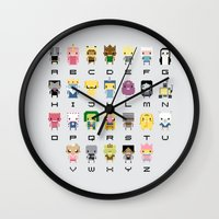 Ad Venture Time Alphabet Wall Clock