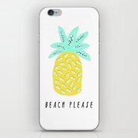 BEACH PLEASE iPhone & iPod Skin