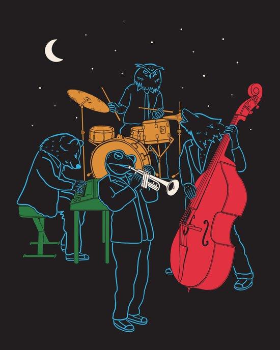 Animals plays Jazz Art Print