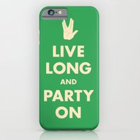 iPhone & iPod Case featuring live Long and Party On (Green) by Zachary Burns