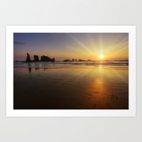 Sunset Over The Pacific  Art Print