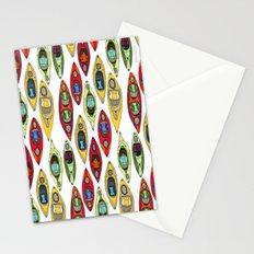 I Heart Kayaks Pattern Stationery Cards