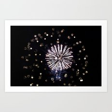 Fireworks in Harrison Hot Springs BC Canada Art Print