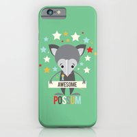 iPhone & iPod Case featuring Awesome Possum by Steph Dillon