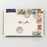French Postage, meet me in Paris iPad Case