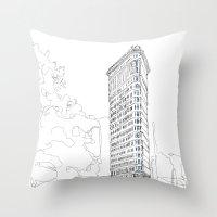 Flat Iron Building Throw Pillow