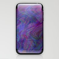 Blue Swirls iPhone & iPod Skin