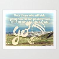 Adventure Quote, hot air balloon Art Print
