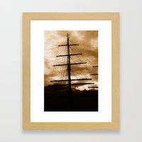 Tall ship mast Framed Art Print
