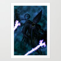 Squid Wizard Art Print