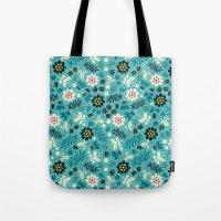 Fresh Blossoms (Greens) Tote Bag
