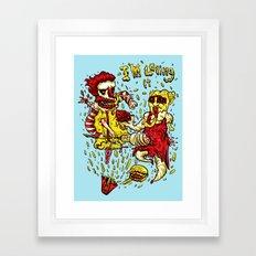 I'm loving it Framed Art Print