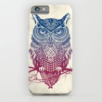 iPhone & iPod Case featuring Evening Warrior Owl by Rachel Caldwell