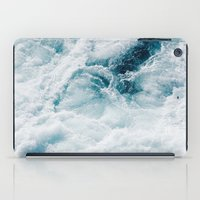 sea - midnight blue storm iPad Case