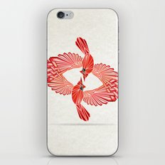 red cardinal iPhone & iPod Skin