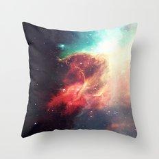 First Stop: Universe Throw Pillow