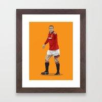 Eric Cantona - Manchester United Framed Art Print