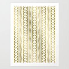 Moroccan Stripes Gold Art Print