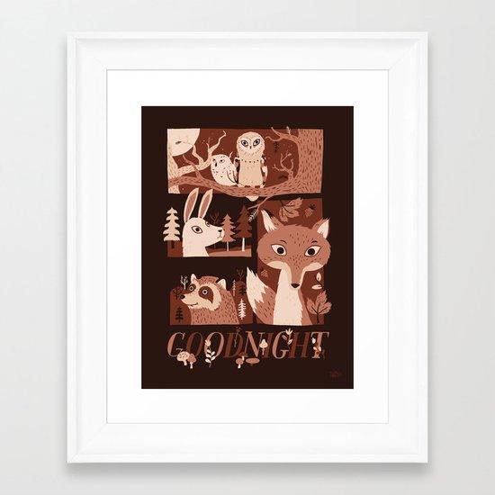 Goodnight Forest Framed Art Print