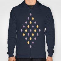 Yellow and purple raindrops Hoody