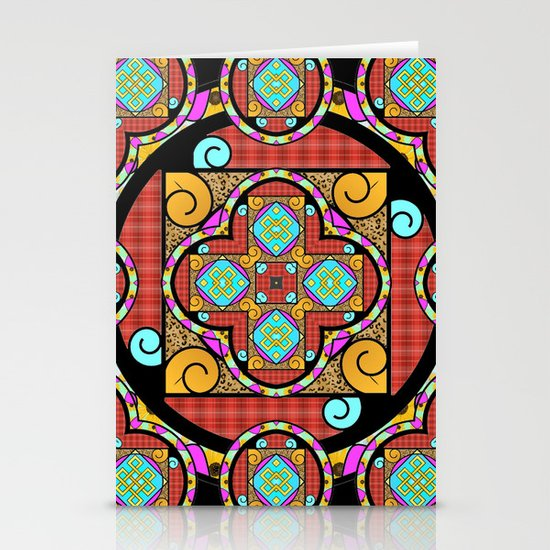 Best Blanket Mandala Stationery Card