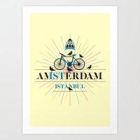 Amsterdam & Istanbul Art Print