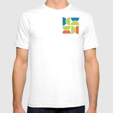 Lime Squeeze White SMALL Mens Fitted Tee