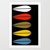 Lotus Pattern Focus Art Print