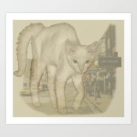 Ghost Kitty Art Print