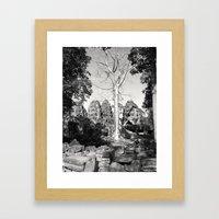 Bayon Temple - Cambodia Framed Art Print