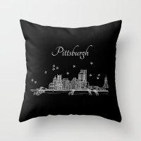 Pittsburgh, Pennsylvania City Skyline Throw Pillow
