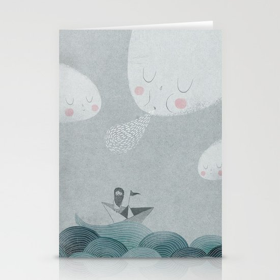 Blowing by the Wind Stationery Card