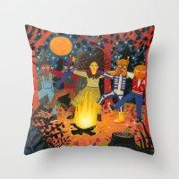 The Spirits Of Autumn Throw Pillow
